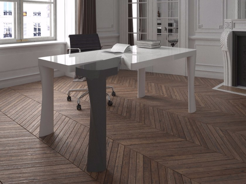 Lacquered rectangular Adamantx® office desk PUNK - ZAD ITALY