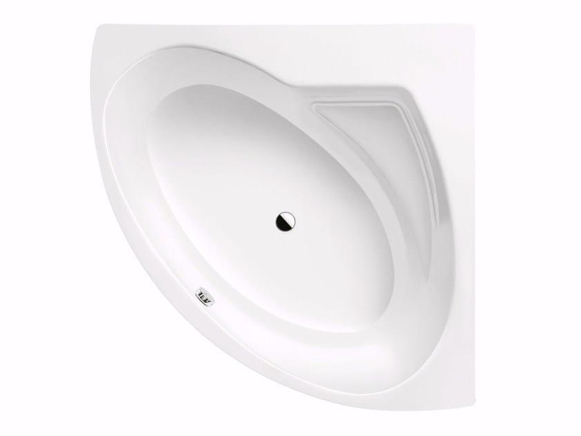 Corner enamelled steel bathtub PUNTA DUO 3 by Kaldewei Italia