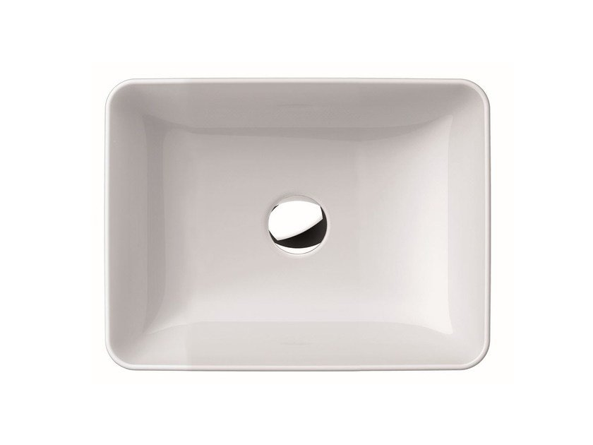 Countertop rectangular washbasin PURA 50 | Countertop washbasin - GSI ceramica