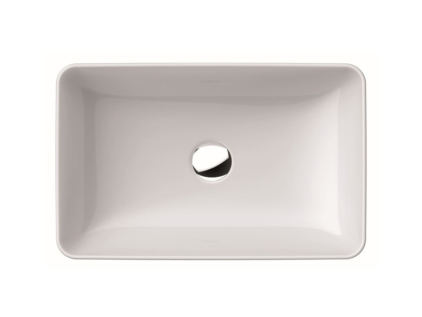 Countertop rectangular washbasin PURA 60 | Countertop washbasin by GSI ceramica