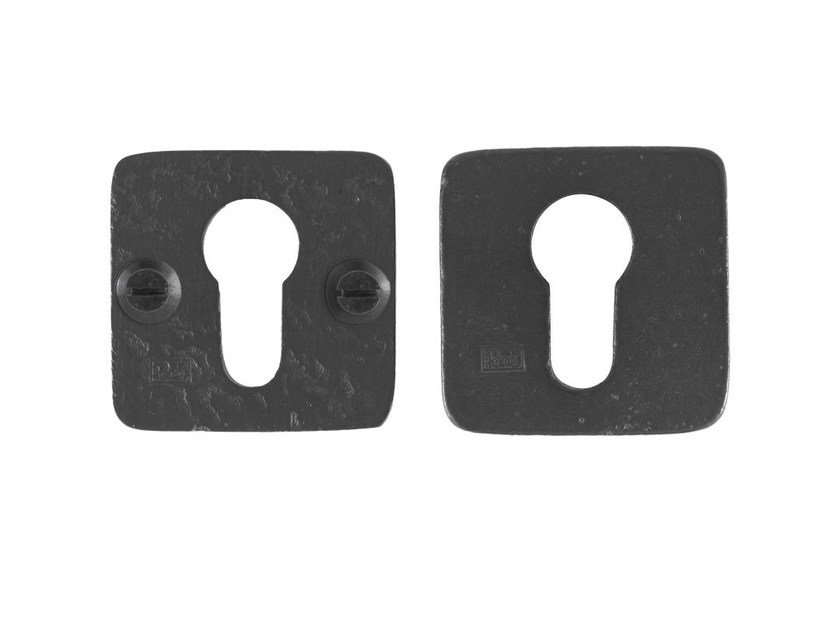 Square iron keyhole escutcheon PURE 8083 by Dauby