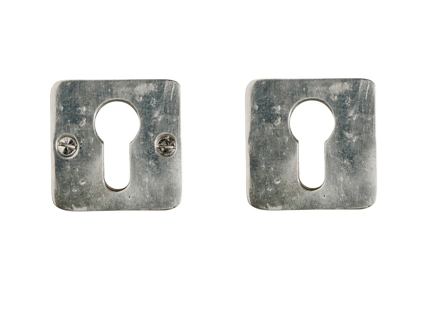 Square metal keyhole escutcheon PURE 8084 by Dauby