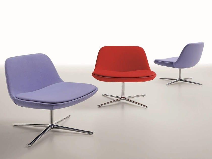 Swivel upholstered fabric easy chair PURE LOOP LOUNGE - Infiniti