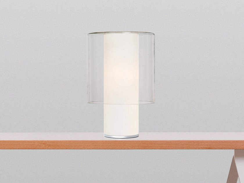 Blown glass table lamp PURE - TEO - Timeless Everyday Objects