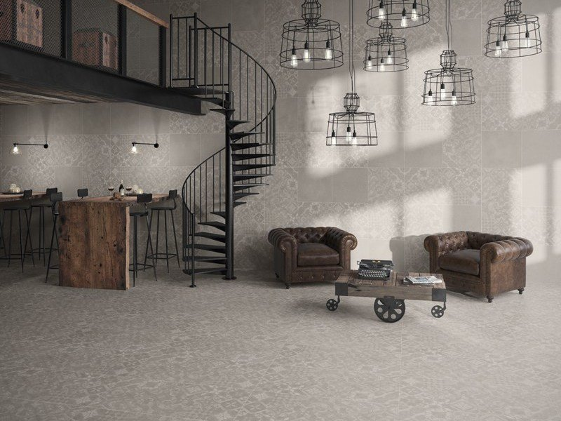 Indoor/outdoor resilient full-body porcelain stoneware wall/floor tiles PURESTONE RETRO - Revigrés