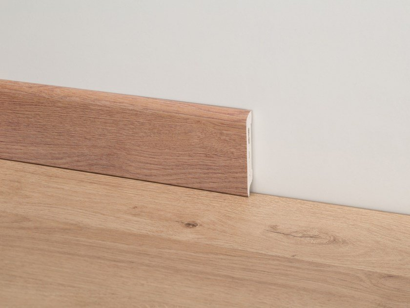 PVC Skirting board with wood effect PVC Line 8605 by PROFILPAS