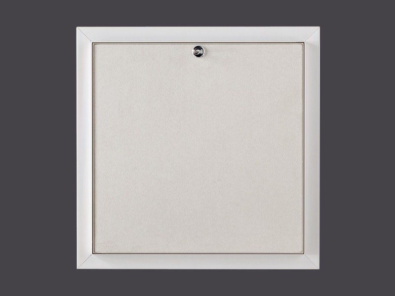 Hatches for plasterboard in PVC PVC HATCHES WITH LOCK - Gyps