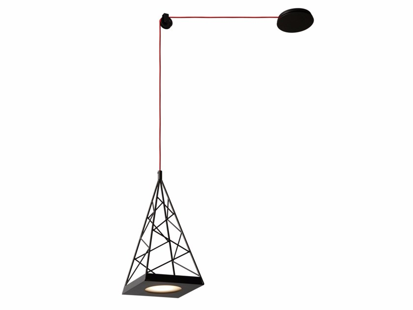 LED adjustable pendant lamp PYLON - Tooy