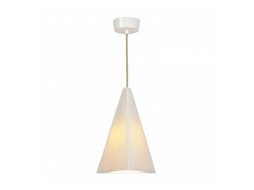 Direct light porcelain pendant lamp with dimmer PYRAMID - Original BTC