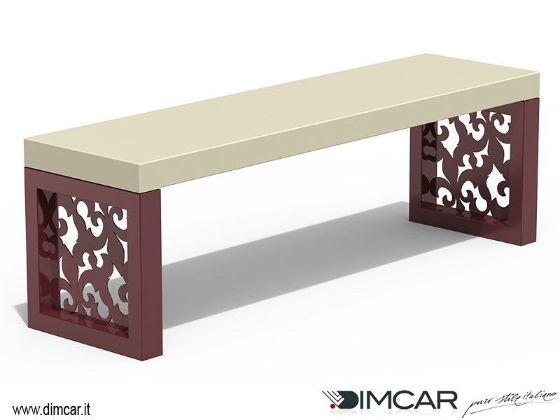 Contemporary style backless metal Bench Panca Giglio - DIMCAR
