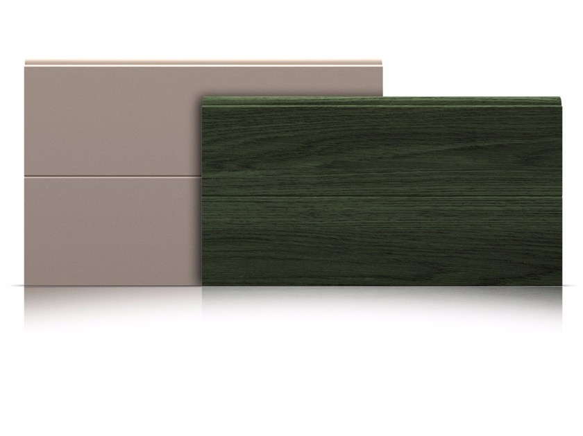 Sectional door panels Panels with surface with middle rib - Marcegaglia Buildtech