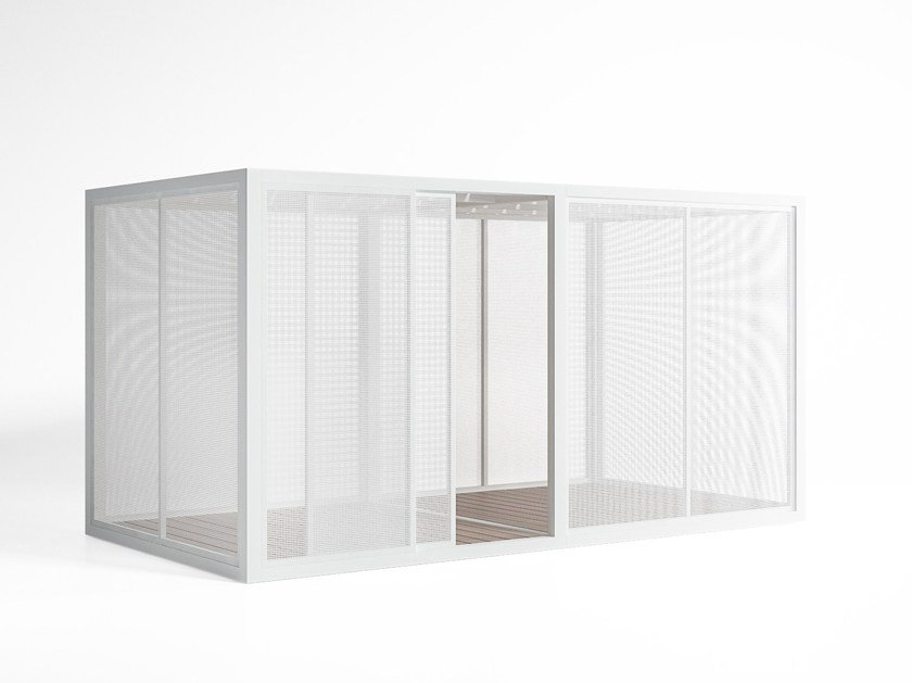 Adjustable aluminium solar shading Perforated Sheet Sidewalls by GANDIA BLASCO