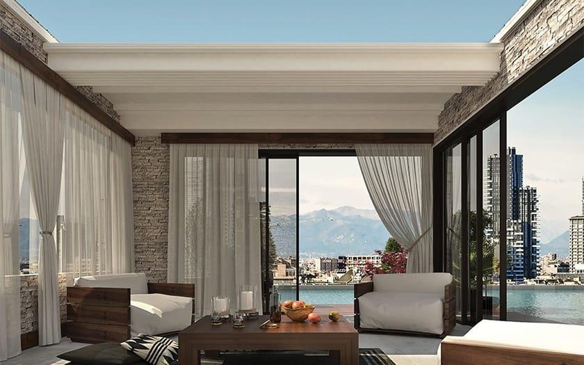 Pergolato motorizzato in alluminio pergocasa roof for Arredo casa frosinone