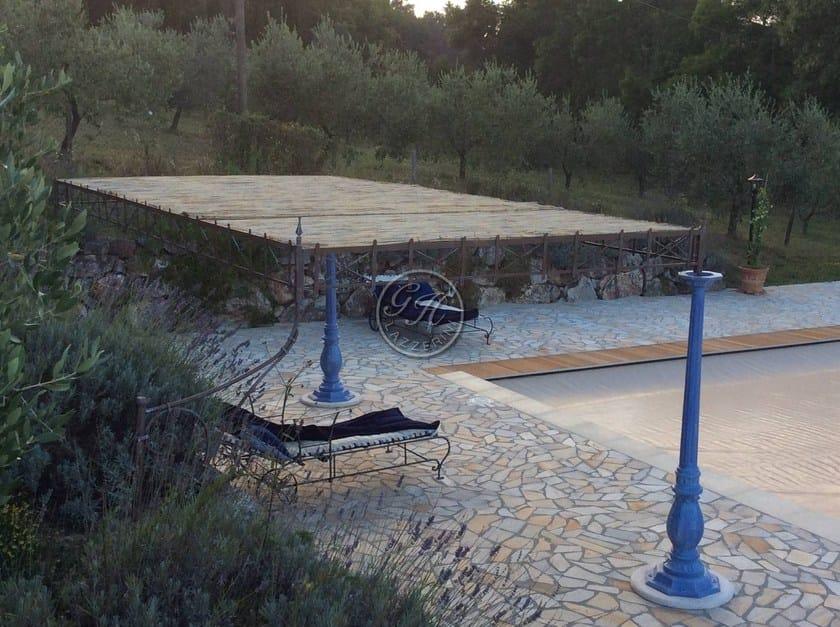 Wall-mounted wooden pergola Pergola 3 - Garden House Lazzerini