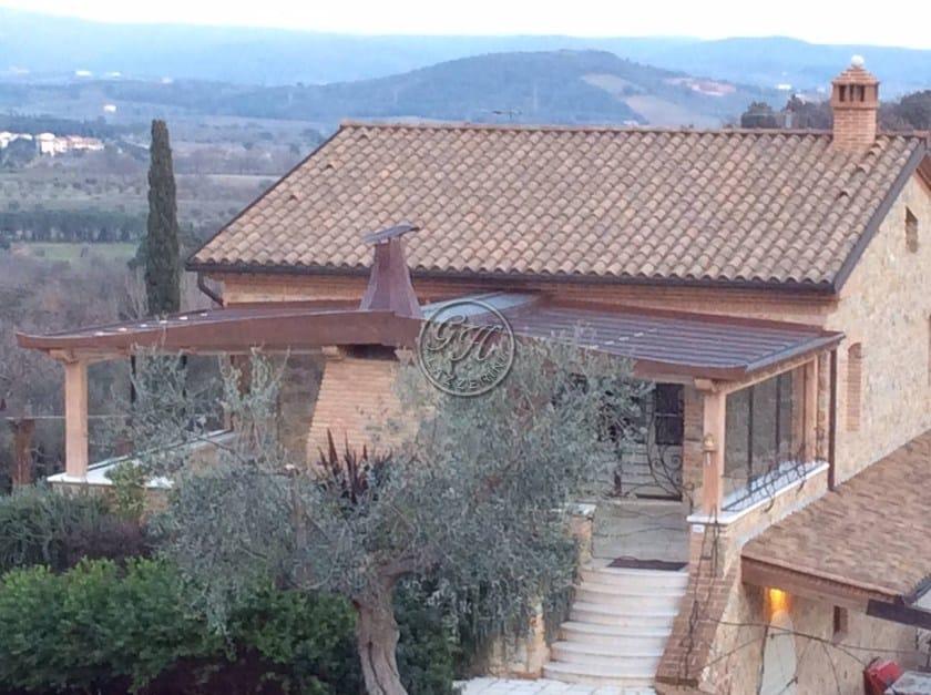 Wall-mounted wooden pergola Pergola 4 - Garden House Lazzerini