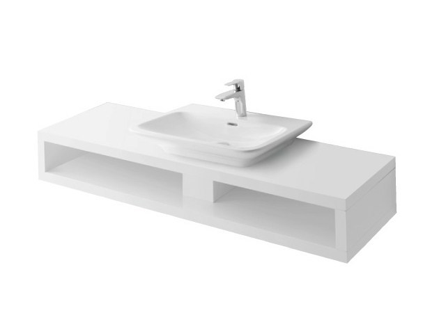 Single wooden washbasin countertop MH | Wooden washbasin countertop by TOTO
