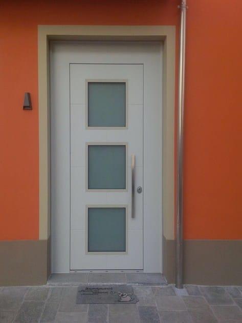 Porta d 39 ingresso blindata con pannelli in vetro frame - Porte ingresso vetro ...