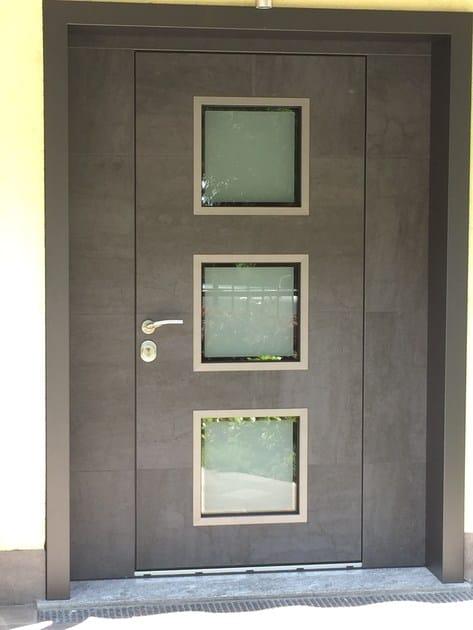 Porta d 39 ingresso blindata con pannelli in vetro frame - Porta ingresso blindata ...