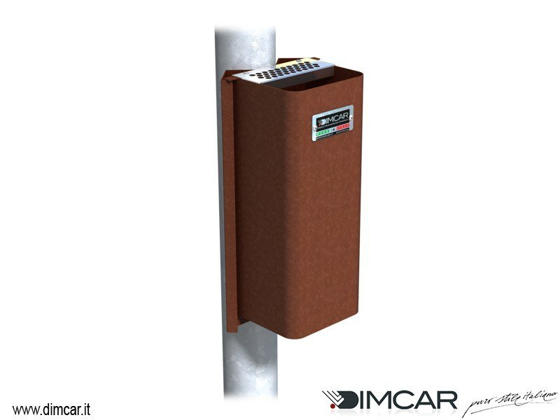 Steel ashtray Posacenere Cenerino con attacco su palo by DIMCAR