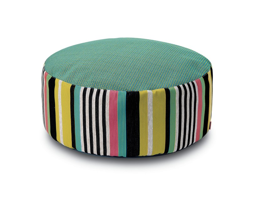 Fabric pouf with removable lining SINTRA | Pouf - MissoniHome
