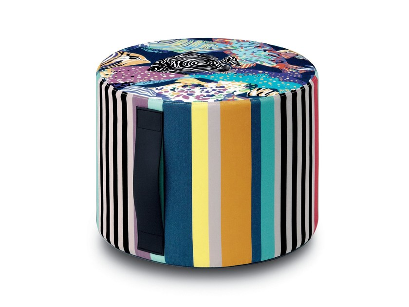 Fabric pouf with removable lining SUMATRA | Pouf - MissoniHome
