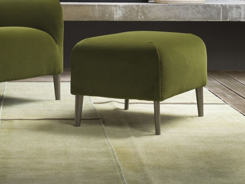 Fabric pouf with removable lining DIVANITAS | Pouf by Verzelloni