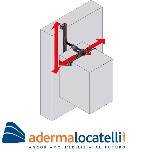 Support and anchor for reinforced concrete structure Profilo di ancoraggio GP sismico - nodo - AdermaLocatelli Group