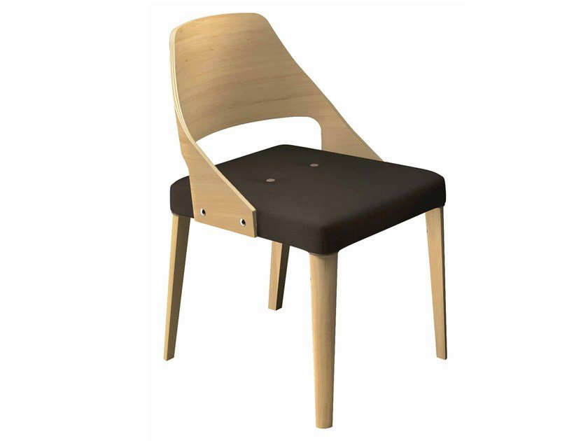 Upholstered wooden chair Punto 164 - Metalmobil