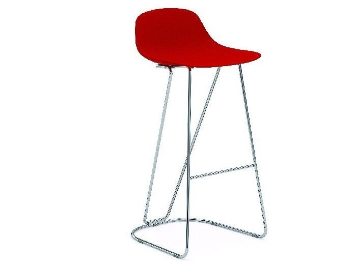 Cantilever polypropylene stool with footrest PURE LOOP MINI DANDY | Cantilever stool by Infiniti