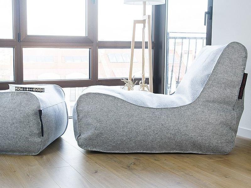 Chaise longue sfoderabile in feltro LOUNGE FELT - Pusku pusku