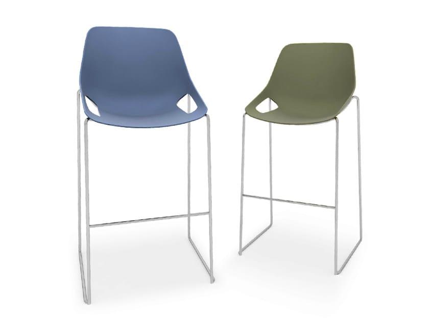 Sled base polypropylene counter stool Q.5 | Counter stool - Quinti Sedute