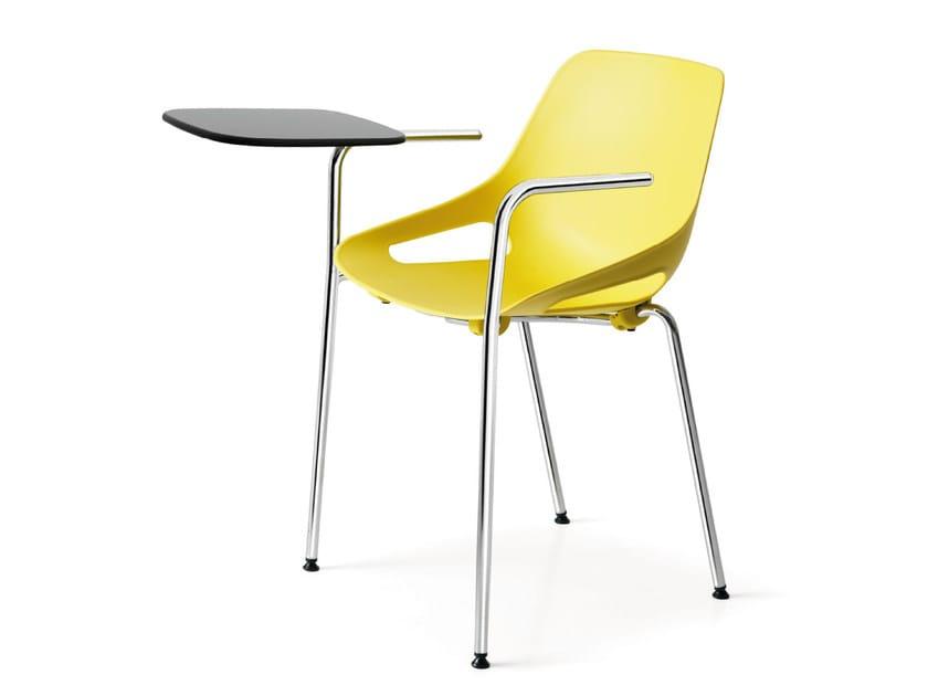 Polypropylene training chair with writing tablet Q.5 | Training chair - Quinti Sedute