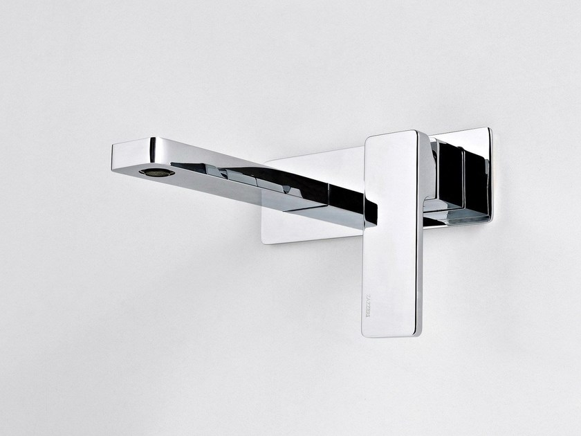 Wall-mounted single handle washbasin mixer QQUADRO - ZAZZERI