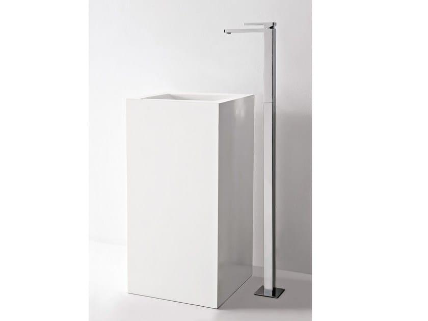 Floor standing single handle washbasin mixer QQUADRO - ZAZZERI