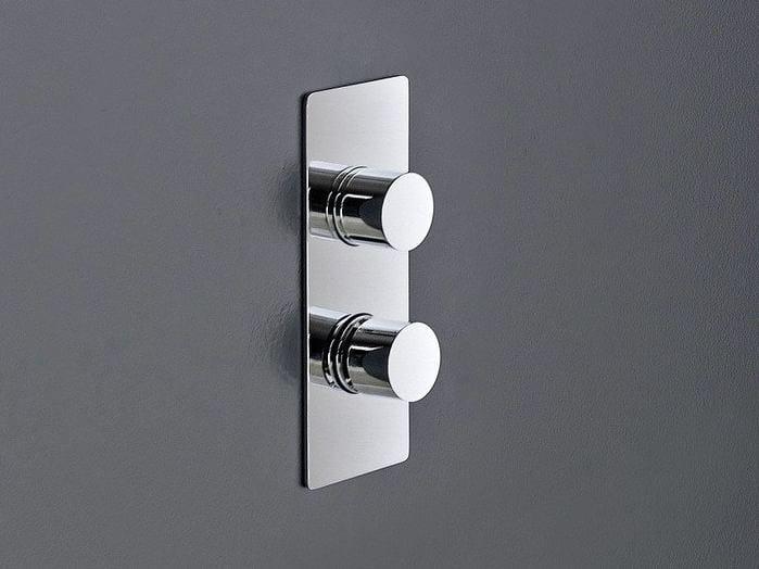 2 hole thermostatic shower mixer QQUADRO - ZAZZERI