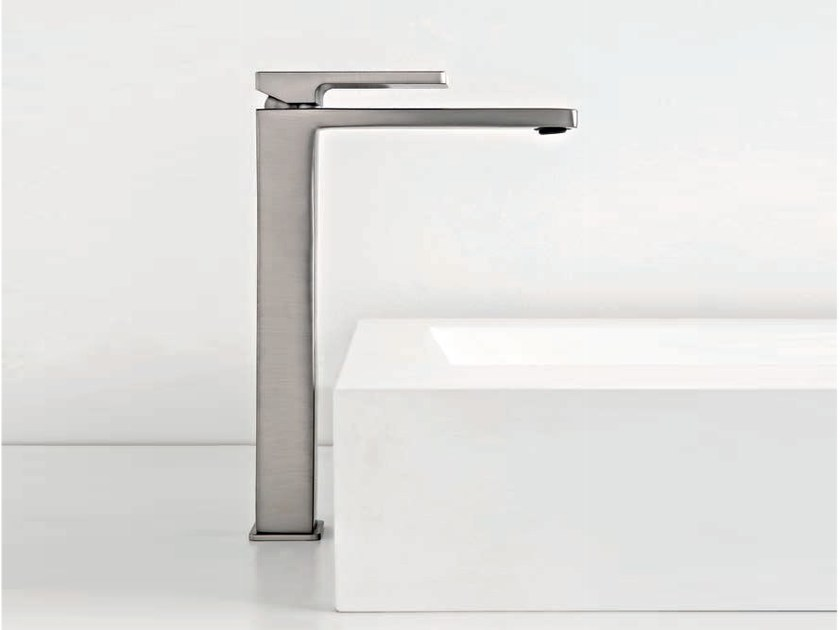 Countertop single handle washbasin mixer QQUADRO - ZAZZERI