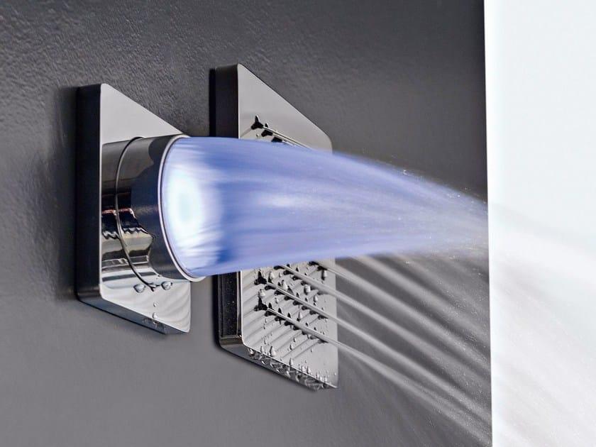 Wall-mounted LED overhead shower QQUADRO - ZAZZERI