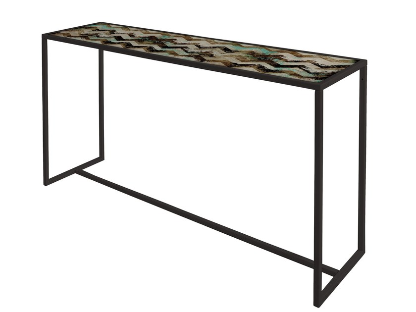 Rectangular painted metal console table QR-5A/5B - MOMENTI di Bagnai Matteo