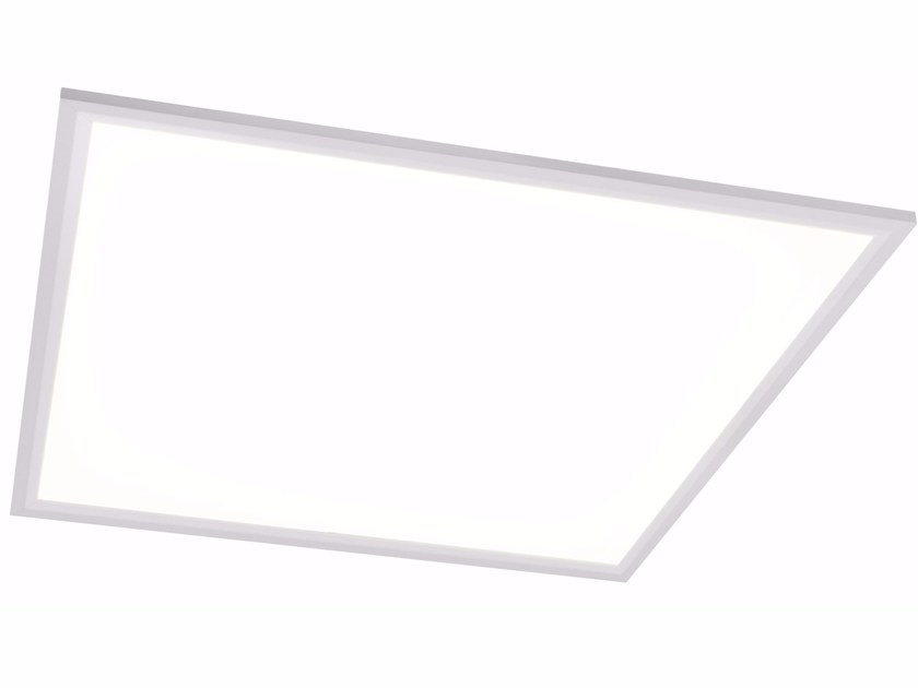 Aluminium wall lamp / ceiling lamp QUAD X 60x60 48W by Quicklighting