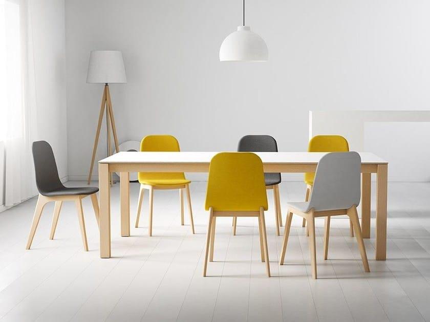 Rectangular wooden table QUADRA - CANCIO