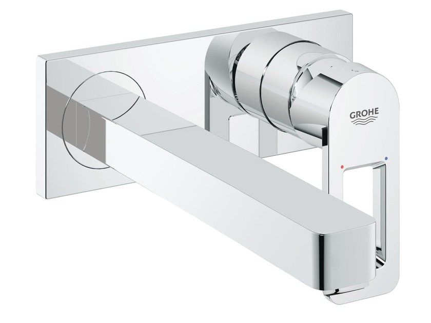 Wall-mounted washbasin mixer with plate QUADRA | Wall-mounted washbasin mixer by Grohe