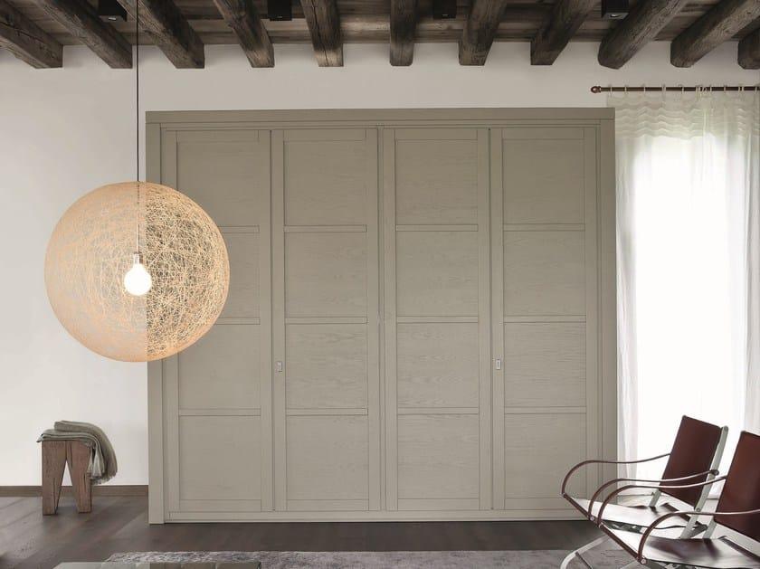Wooden wardrobe with drawers QUADRA | Wardrobe - Devina Nais