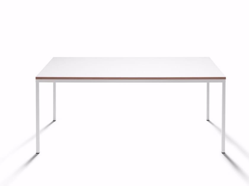 Square HPL table QUADRATO by DE PADOVA