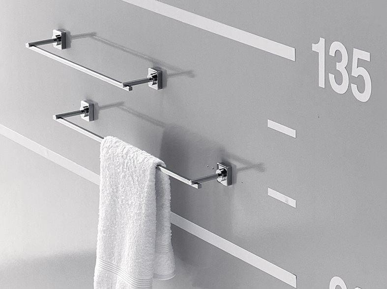 Porta asciugamani a barra in metallo QUADRO | Porta asciugamani a barra by INDA®