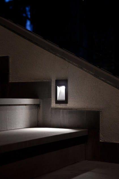 Segnapasso a LED a parete QUANTUM  Illuminazione da incasso a LED - Goccia Illuminazione