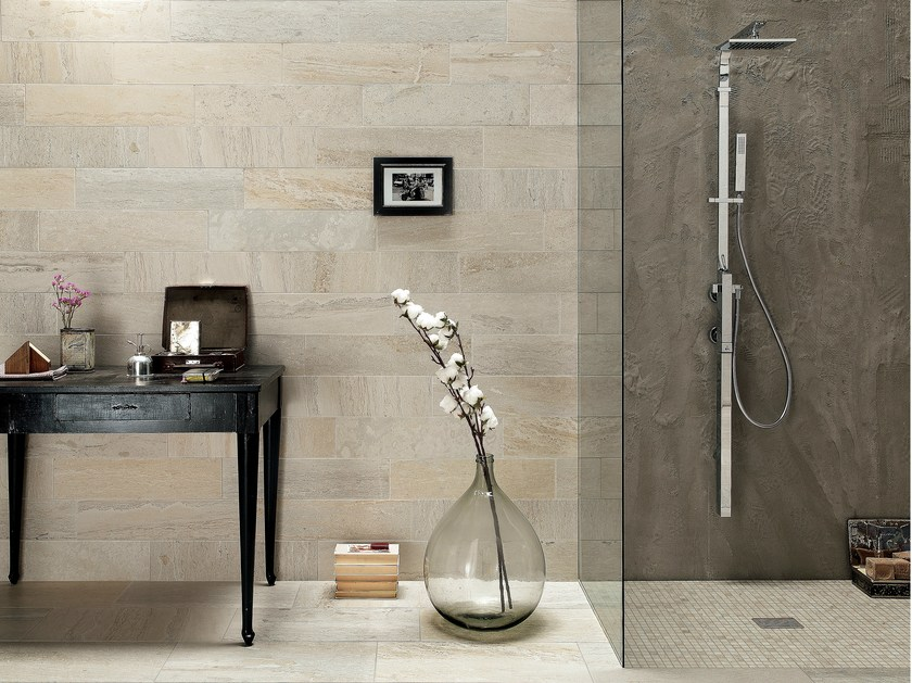 Porcelain stoneware wall/floor tiles with stone effect QUARRY CREAM - ASTOR CERAMICHE