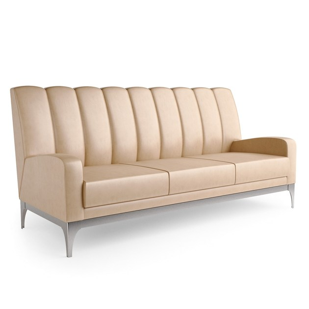 Contemporary style 3 seater upholstered leather sofa QUARTZ | 3 seater sofa - Caroti