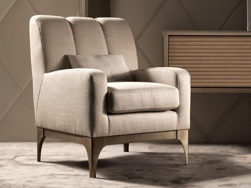 Fabric armchair with armrests QUARTZ | Armchair with armrests - Caroti