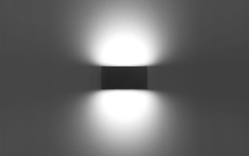 Lampada da parete a led quasar 20   prisma