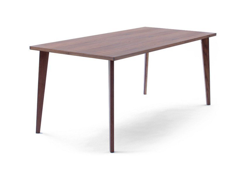 Rectangular wooden dining table QUATTRO - MINT FACTORY